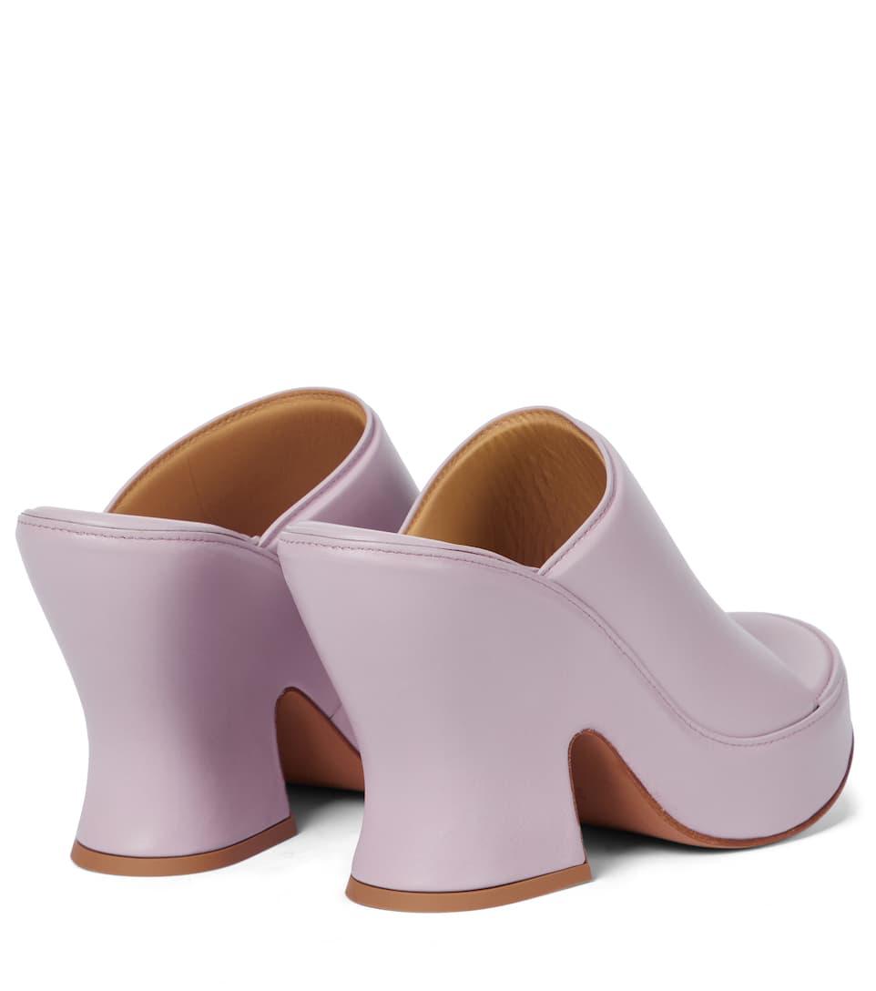 BOTTEGA VENETA Shoes WEDGE LEATHER SANDALS