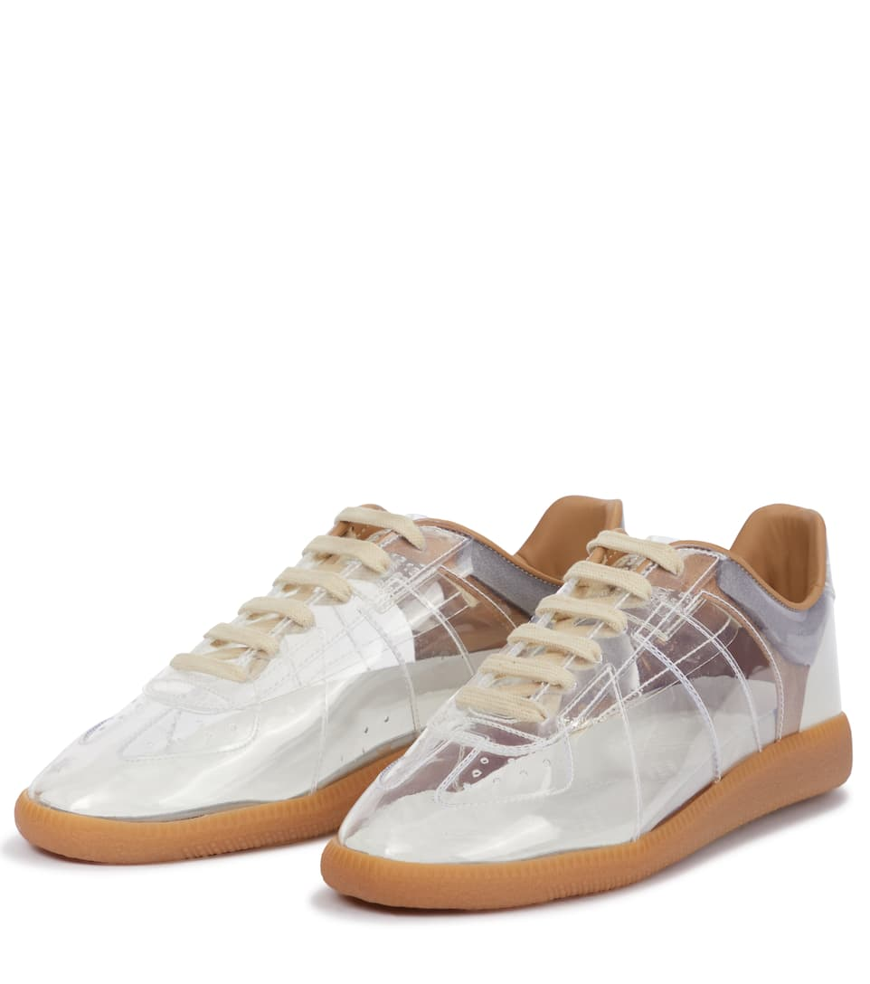 MAISON MARGIELA Laces REPLICA PVC AND LEATHER SNEAKERS