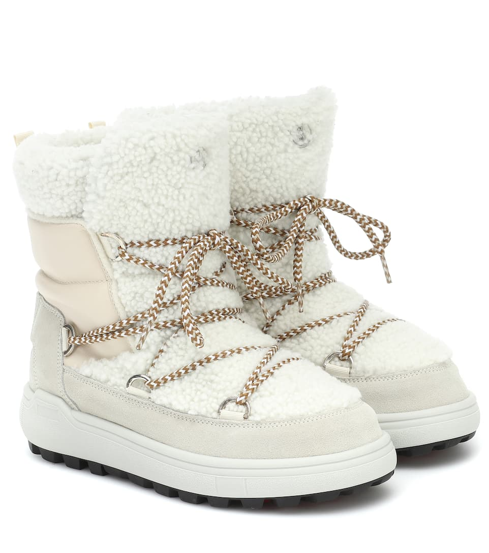 Bogner Chamonix 3 Shearling Snow Boots In White
