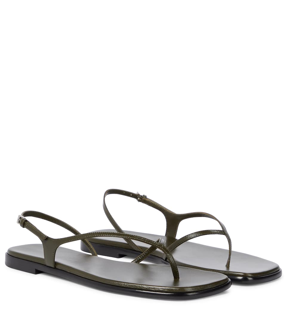 The Row Shoes CONSTANCE LEATHER THONG SANDALS