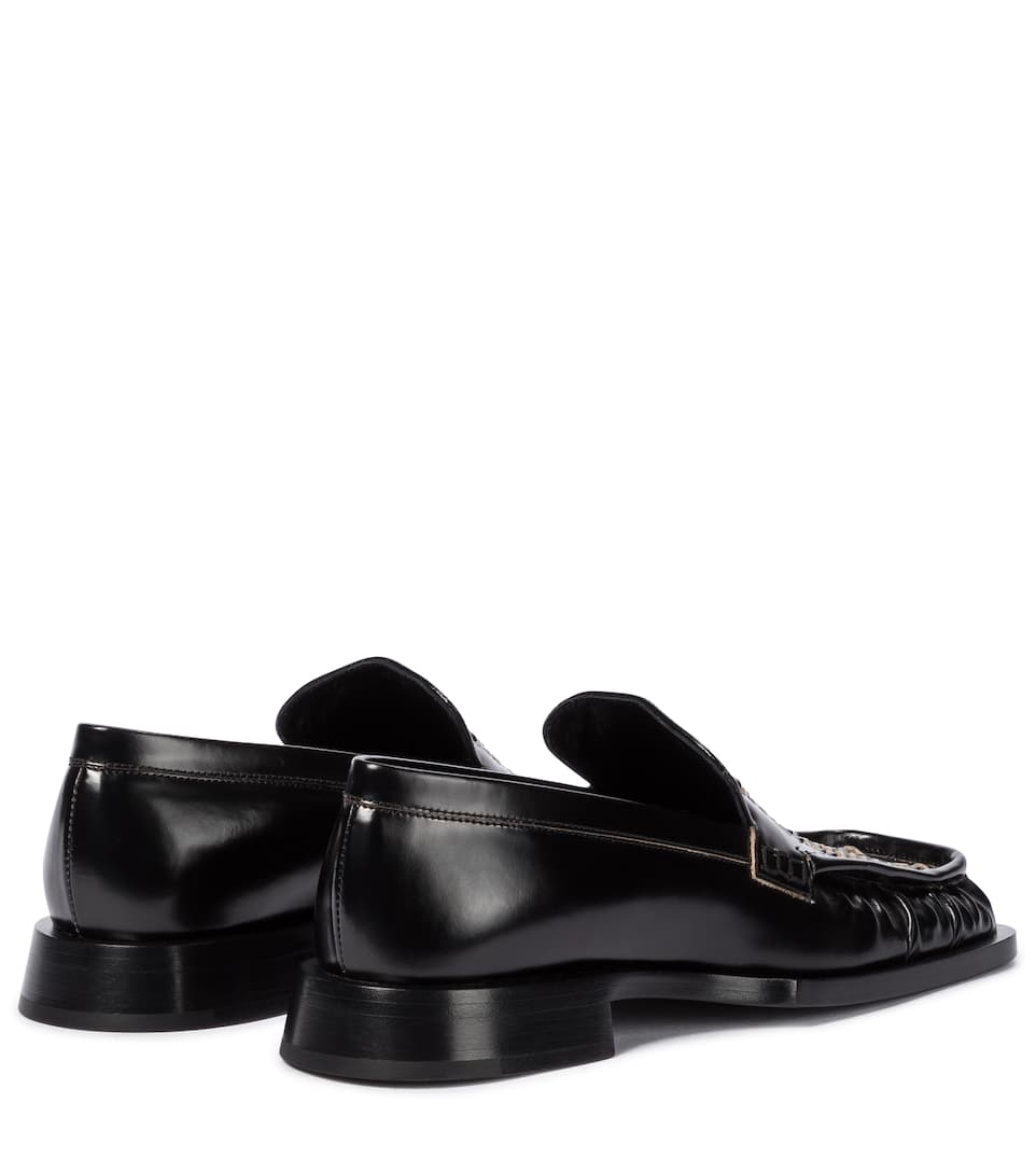 JIL SANDER Loafers BRAIDED LEATHER LOAFERS