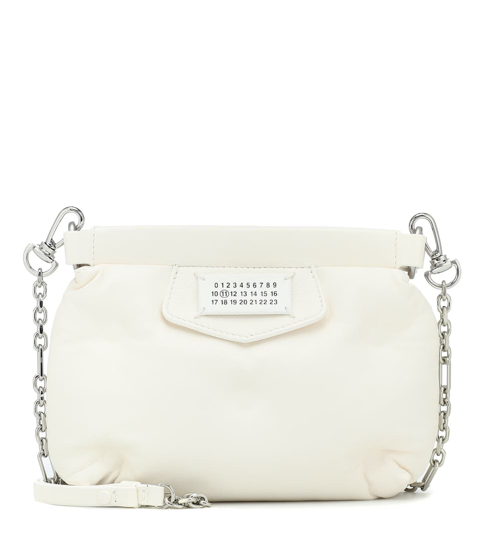 Maison Margiela Red Carpet Glam Slam Mini Leather Clutch In White