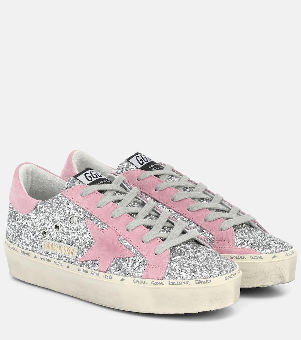 Golden Goose - Hi Star glitter sneakers
