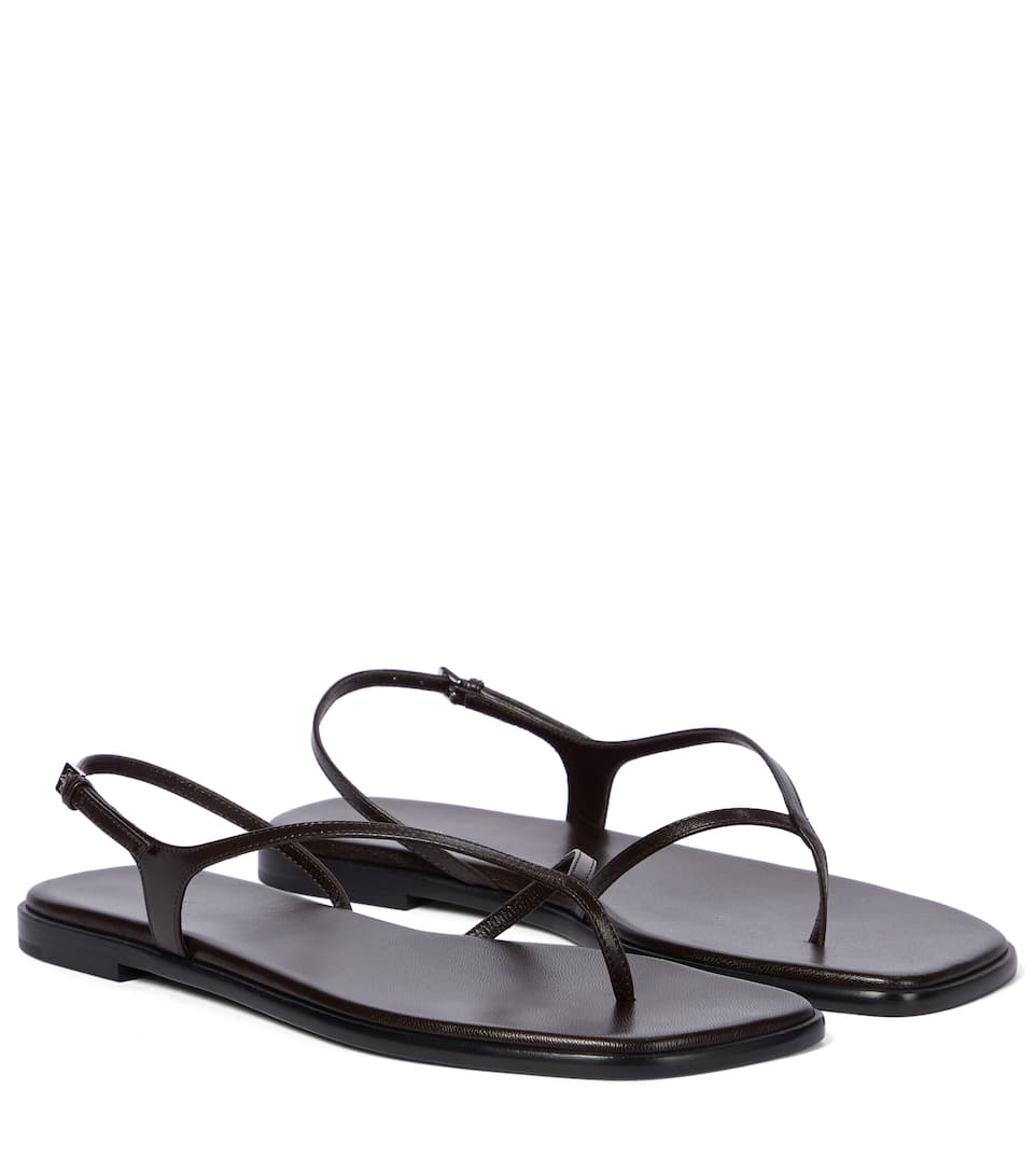 The Row CONSTANCE LEATHER THONG SANDALS