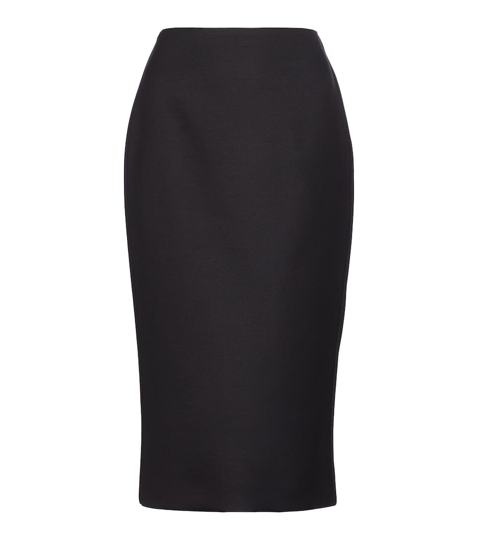 Fendi WOOL AND SILK-BLEND PENCIL SKIRT