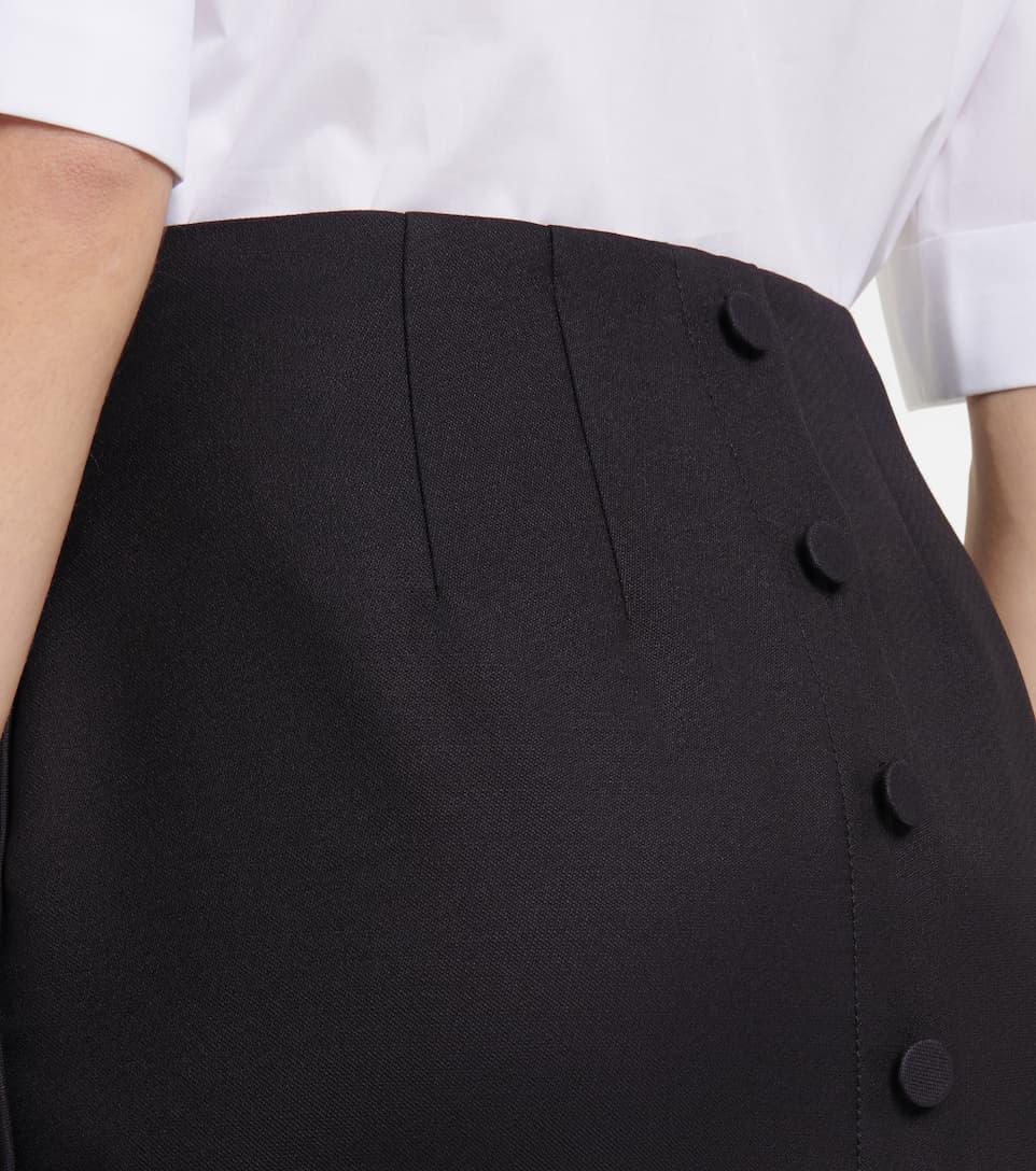 FENDI Clothing WOOL AND SILK-BLEND PENCIL SKIRT