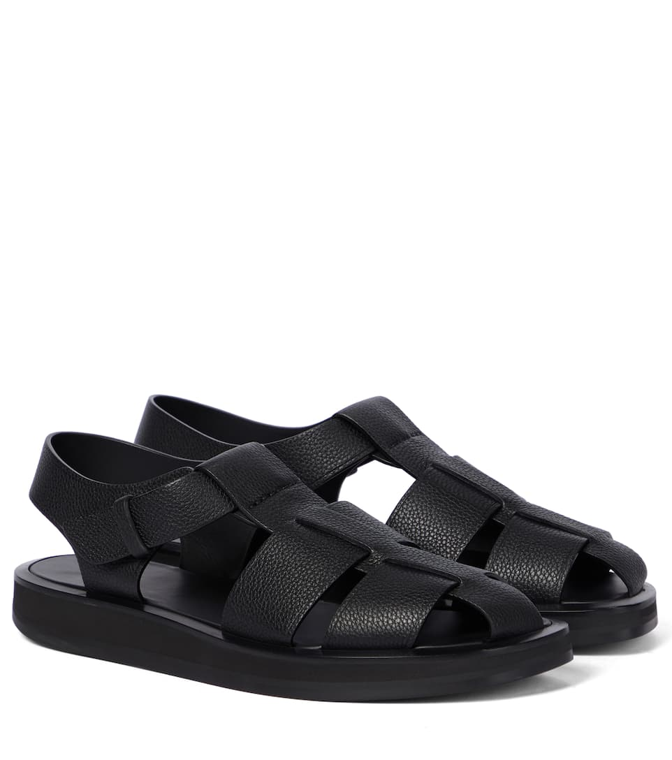 The Row Leathers FISHERMAN LEATHER SANDALS