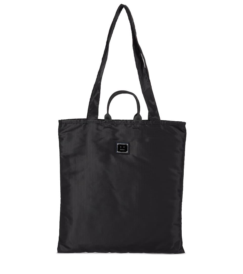 Acne Studios Logo Nylon Tote In Black