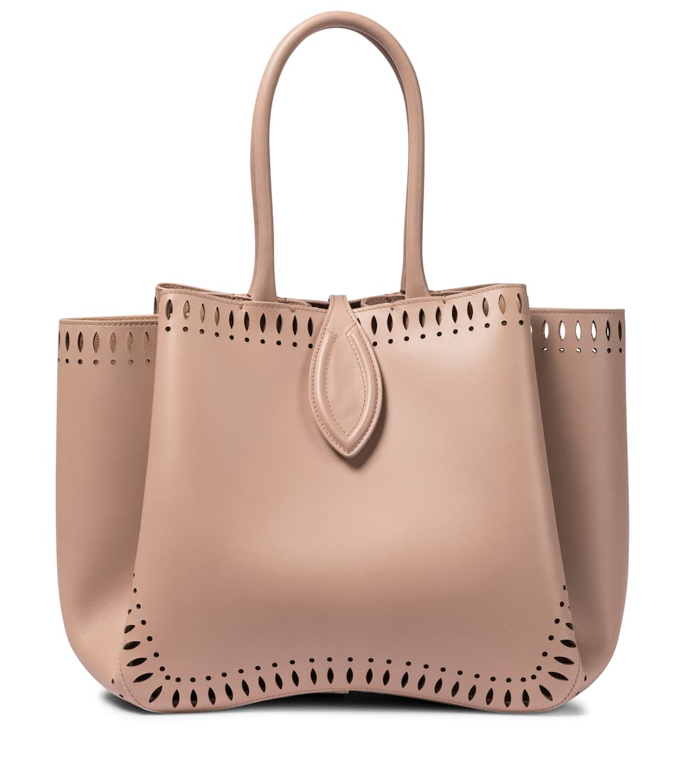 Alaïa ANGÈLE 25 LEATHER TOTE