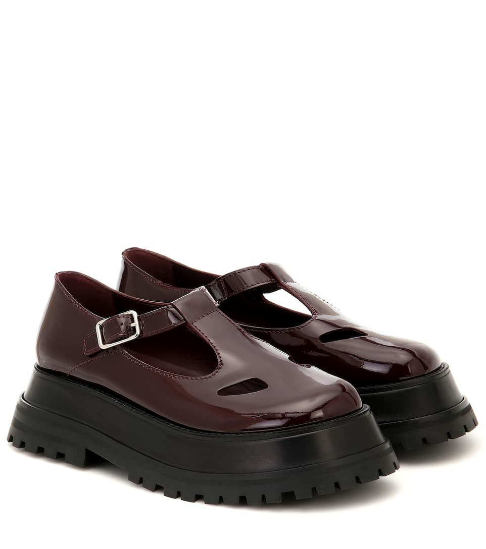 Aldwych Star Leather Loafers In Red