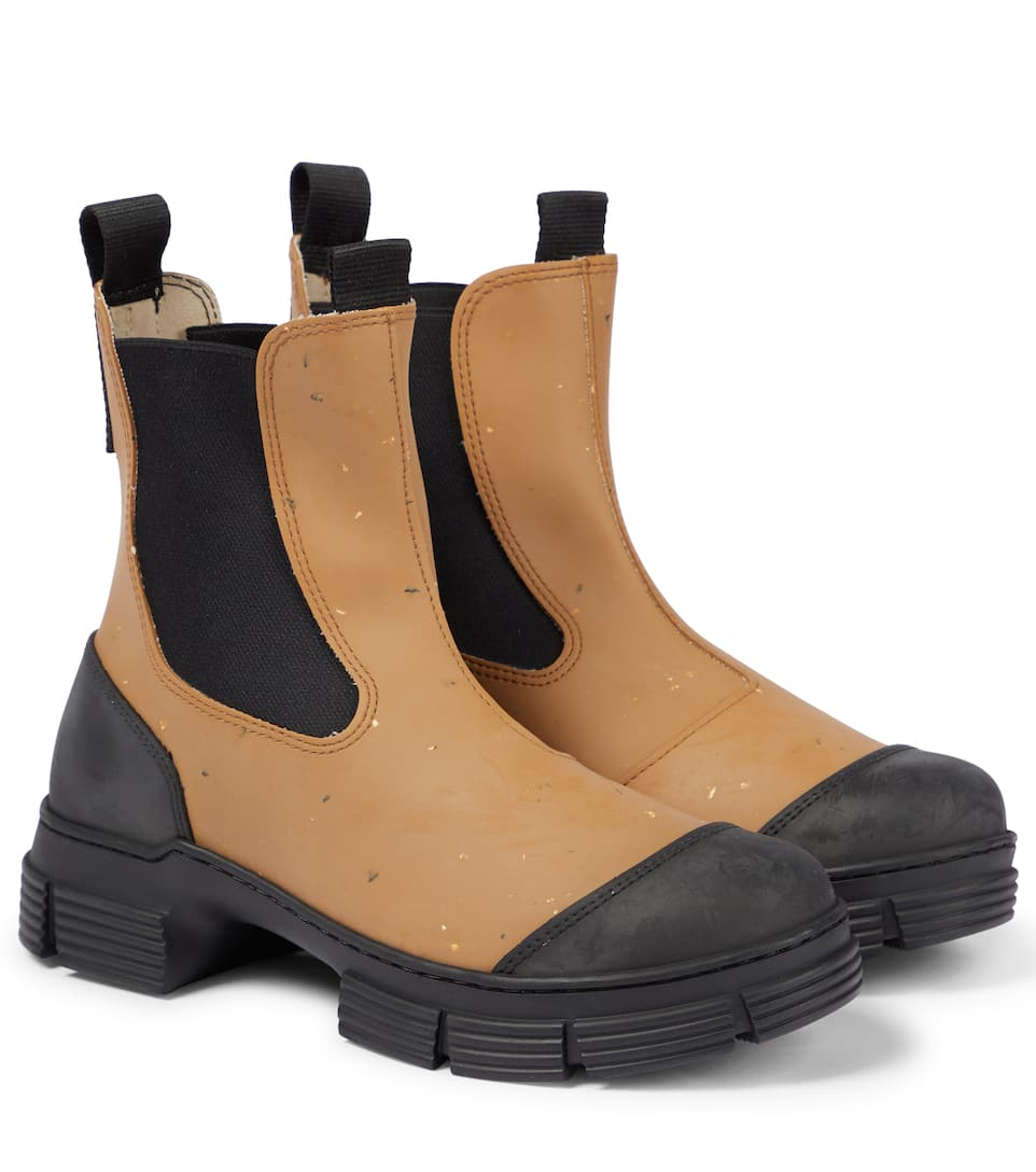 Ganni Recycled Rubber City Boot In Chipmunk
