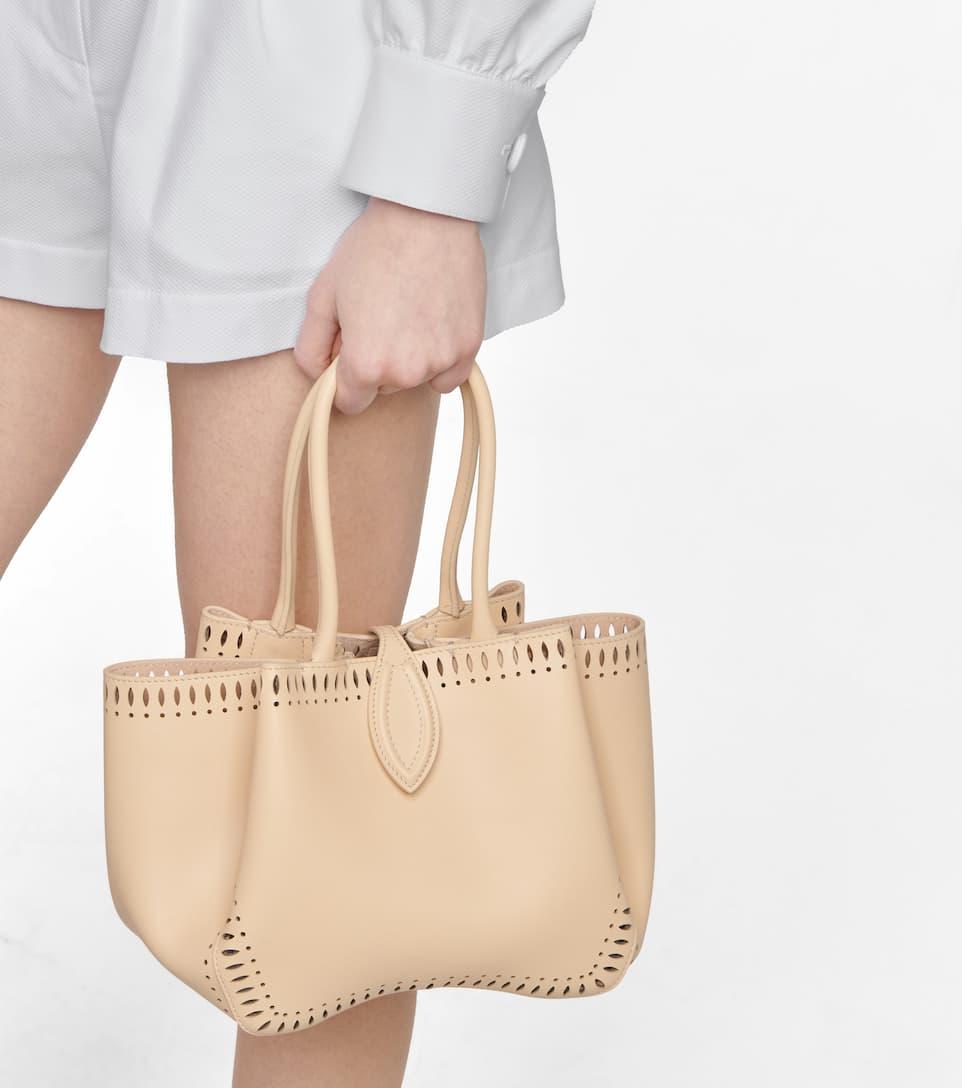 ALAÏA Bags ANGELE 20 MINI LEATHER TOTE