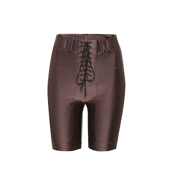 Unravel - Lace-up stretch shorts - mytheresa.com